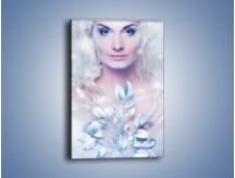 Obraz na płótnie – Biało-śnieżna dama – jednoczęściowy prostokątny pionowy L189