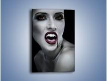 Obraz na płótnie – Krew na wampirzych ustach – jednoczęściowy prostokątny pionowy L196