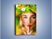 Obraz na płótnie – Kolorowa pani wiosna – jednoczęściowy prostokątny pionowy L204