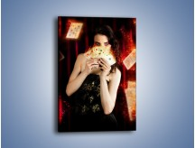 Obraz na płótnie – Gra z rozpaloną dziewczyną – jednoczęściowy prostokątny pionowy L303
