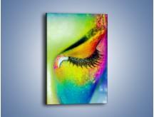 Obraz na płótnie – Makijaż paletą kolorów – jednoczęściowy prostokątny pionowy L312