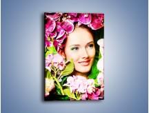 Obraz na płótnie – Kobieta ubrana w kwiaty – jednoczęściowy prostokątny pionowy L336