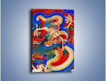 Obraz na płótnie – Kolorowe potwory z bajki – jednoczęściowy prostokątny pionowy O093