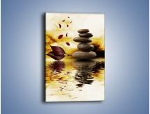 Obraz na płótnie – Wirujące liście nad wodą – jednoczęściowy prostokątny pionowy O159