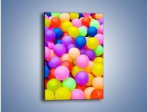 Obraz na płótnie – Basen z kolorowymi piłeczkami – jednoczęściowy prostokątny pionowy O208