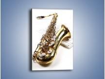 Obraz na płótnie – Muzyka grana na złotym saksofonie – jednoczęściowy prostokątny pionowy O225