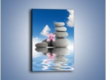 Obraz na płótnie – Różowy storczyk w chmurach – jednoczęściowy prostokątny pionowy O232