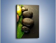 Obraz na płótnie – Zroszona czarna tafla – jednoczęściowy prostokątny pionowy O237