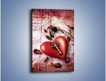 Obraz na płótnie – Klucz do serca – jednoczęściowy prostokątny pionowy O246
