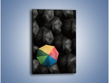 Obraz na płótnie – Samotna parasolka – jednoczęściowy prostokątny pionowy O247