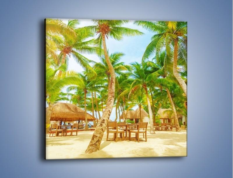 Obraz na płótnie – Słoneczna sjesta pod palmami – jednoczęściowy kwadratowy KN886