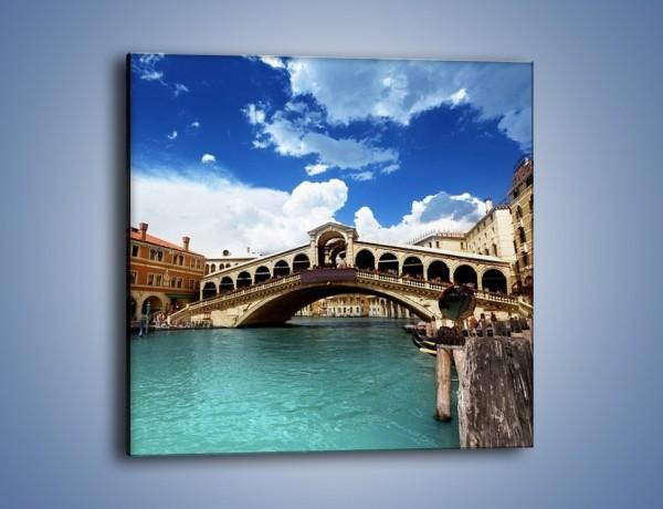 Obraz na płótnie – Most Rialto w Wenecji – jednoczęściowy kwadratowy AM386