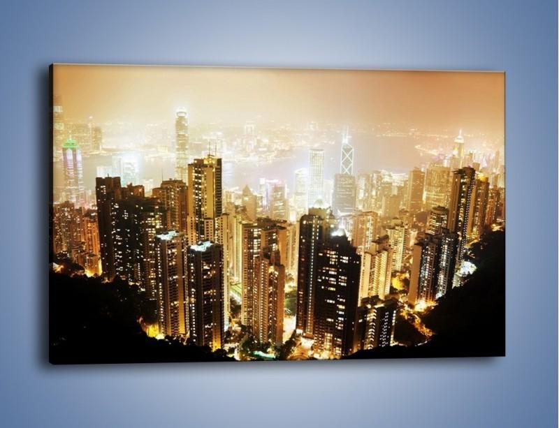 Obraz na płótnie – Miasto widziane z góry – jednoczęściowy prostokątny poziomy AM007