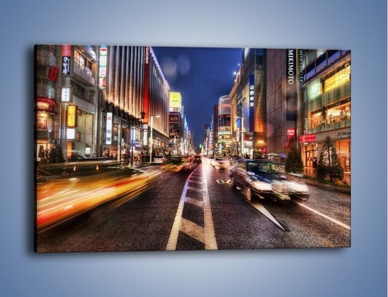 Obraz na płótnie – Tokyo w ruchu – jednoczęściowy prostokątny poziomy AM015
