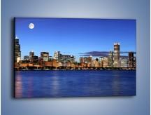 Obraz na płótnie – Zbliżający się wieczór nad miastem – jednoczęściowy prostokątny poziomy AM019