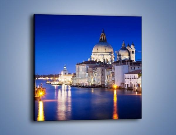 Obraz na płótnie – Bazylika Santa Maria della Salute nocą – jednoczęściowy kwadratowy AM388