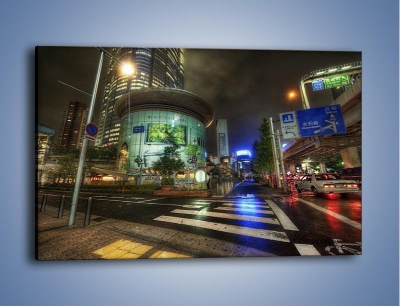Obraz na płótnie – Spokojne Tokyo nocą – jednoczęściowy prostokątny poziomy AM056