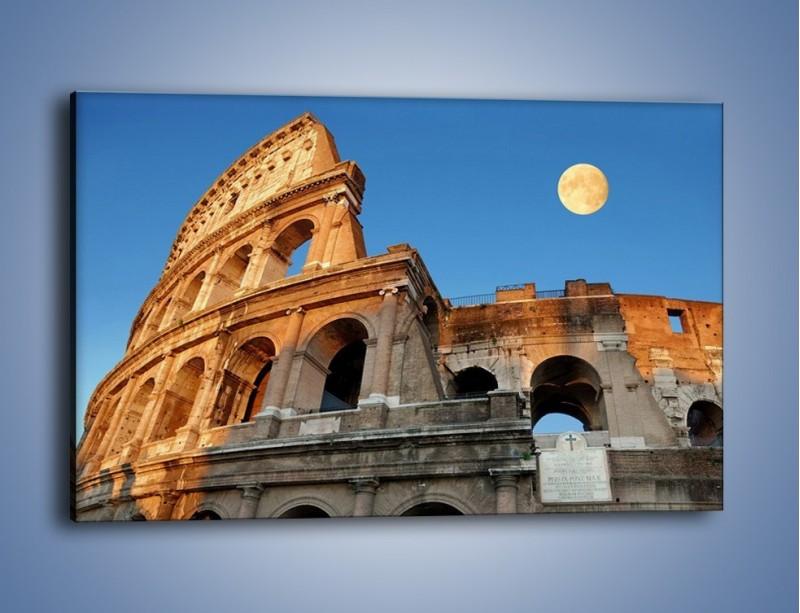 Obraz na płótnie – Pełnia księżyca nad Koloseum – jednoczęściowy prostokątny poziomy AM069