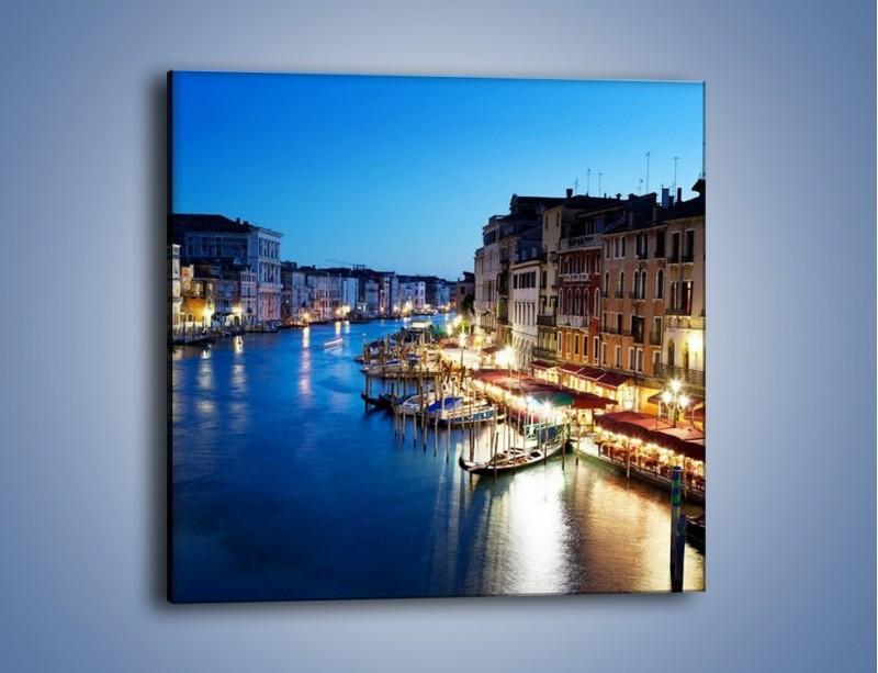 Obraz na płótnie – Zmierzch nad Wenecją – jednoczęściowy kwadratowy AM389