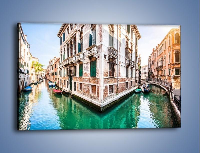 Obraz na płótnie – Skrzyżowanie wodne w Wenecji – jednoczęściowy prostokątny poziomy AM081