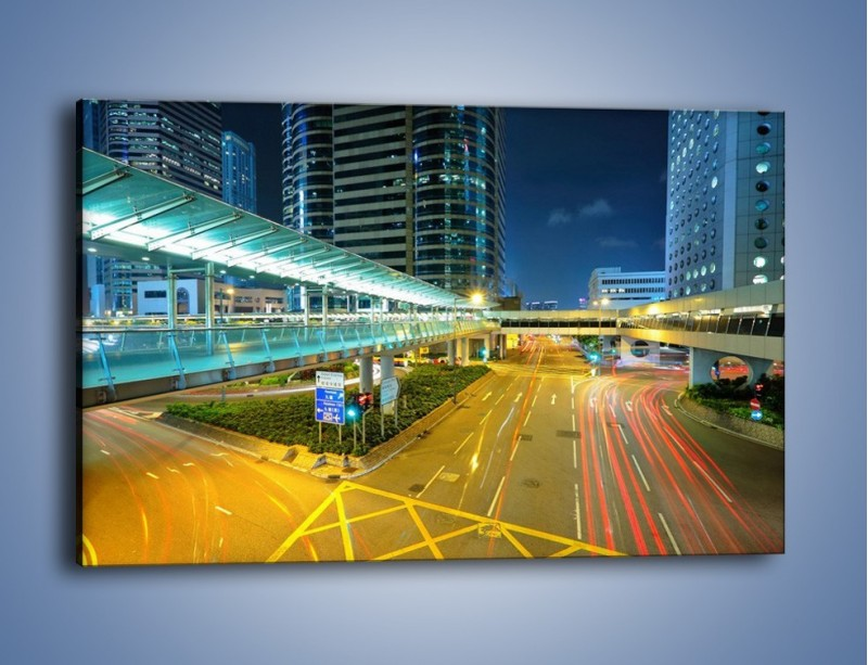 Obraz na płótnie – Droga na lotnisko w Japonii – jednoczęściowy prostokątny poziomy AM088