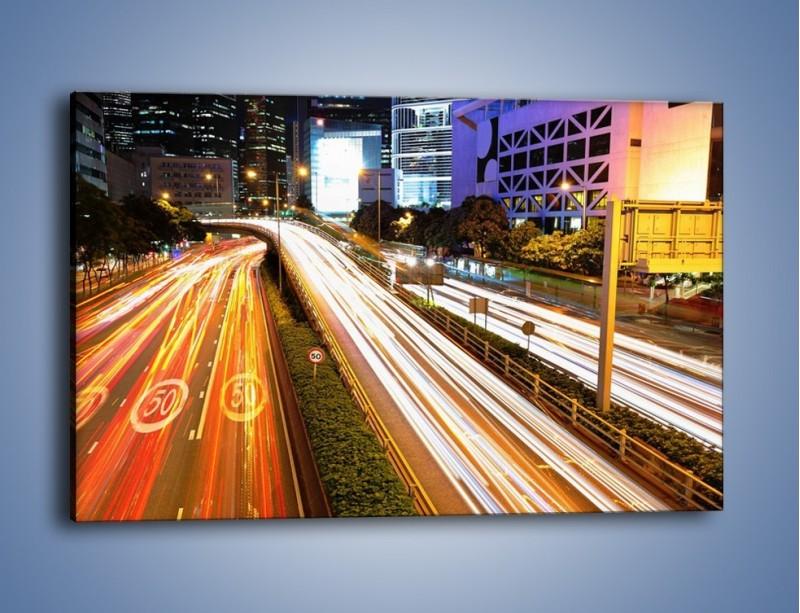 Obraz na płótnie – Ulice w ruchu w mieście – jednoczęściowy prostokątny poziomy AM089