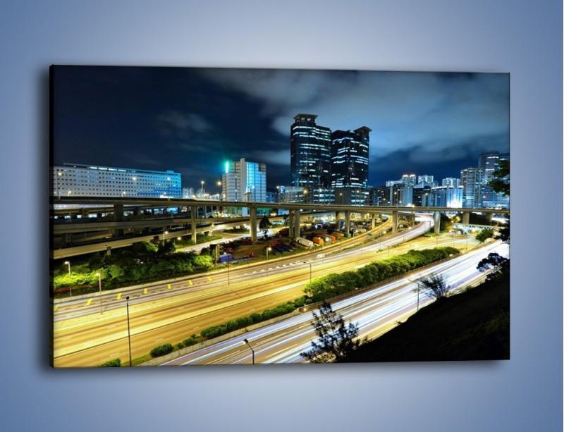 Obraz na płótnie – Przedmieście miasta wieczorem – jednoczęściowy prostokątny poziomy AM091