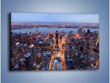 Obraz na płótnie – Budzące się ze snu miasto – jednoczęściowy prostokątny poziomy AM097