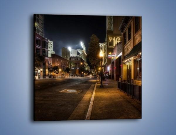 Obraz na płótnie – Ulica San Diego w Kaliforni – jednoczęściowy kwadratowy AM390