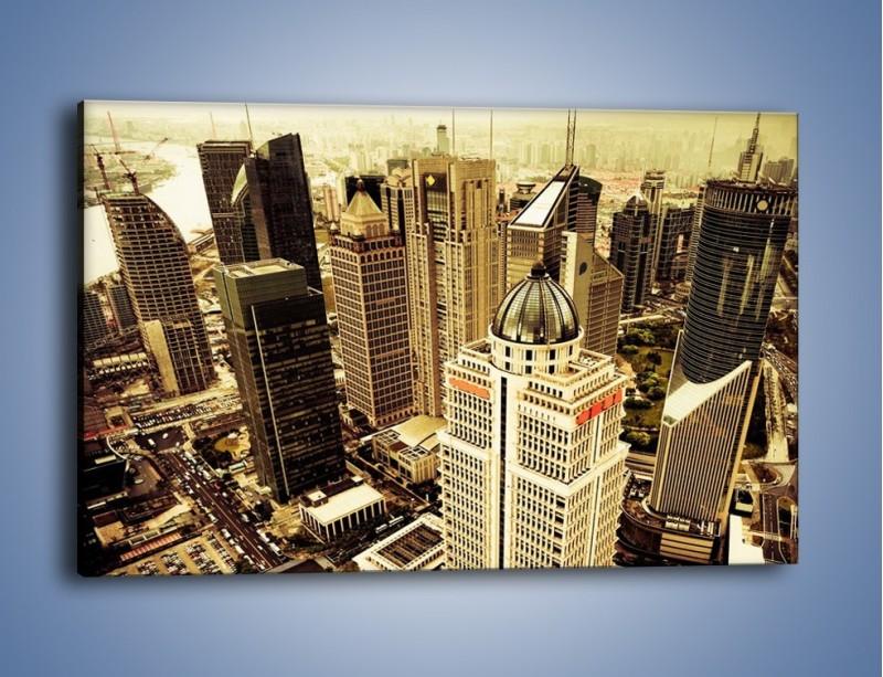 Obraz na płótnie – Drapacze chmur w centrum miasta – jednoczęściowy prostokątny poziomy AM126