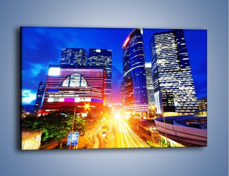 Obraz na płótnie – Miasto w żywych kolorach – jednoczęściowy prostokątny poziomy AM131