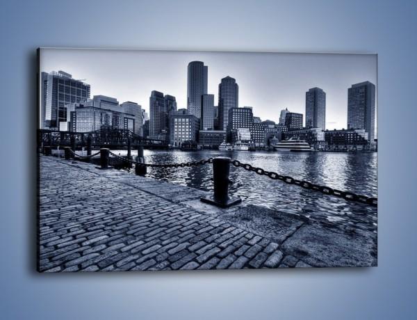 Obraz na płótnie – Wybrukowana wybrzeże miasta – jednoczęściowy prostokątny poziomy AM132