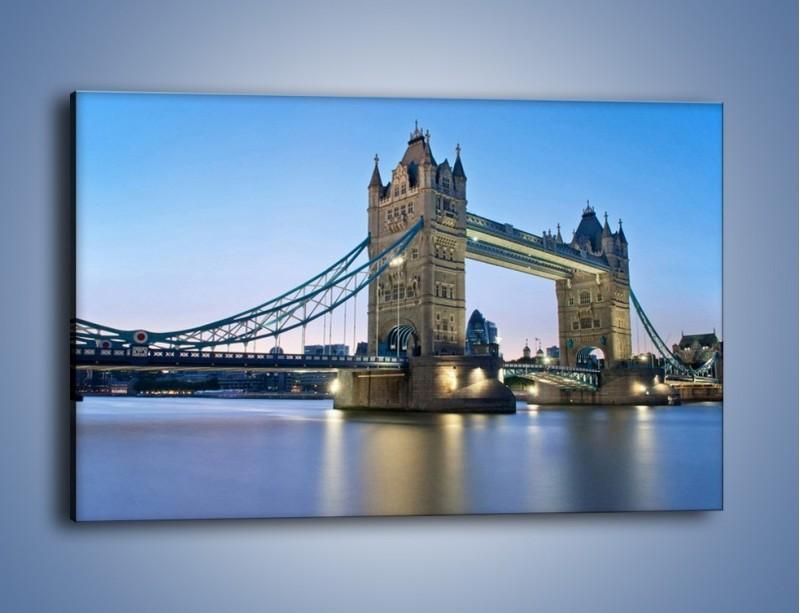 Obraz na płótnie – Tower Bridge o poranku – jednoczęściowy prostokątny poziomy AM143