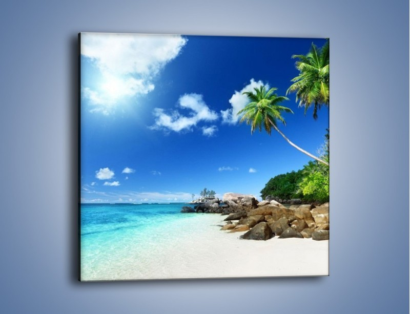 Obraz na płótnie – Rajska plaża i jej piękno – jednoczęściowy kwadratowy KN963