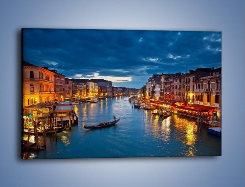 Obraz na płótnie – Wenecja romantyczną porą – jednoczęściowy prostokątny poziomy AM163