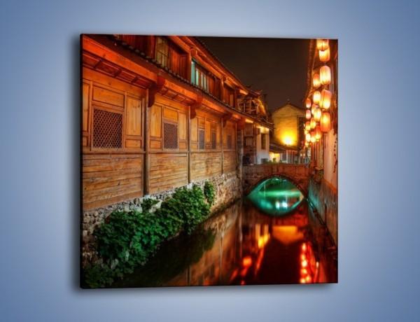 Obraz na płótnie – Kanał w chińskim mieście Lijiang – jednoczęściowy kwadratowy AM391