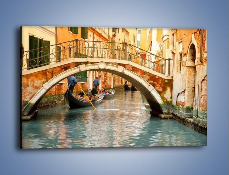 Obraz na płótnie – Weneckie gondole – jednoczęściowy prostokątny poziomy AM172