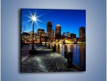 Obraz na płótnie – Boston wieczorową porą – jednoczęściowy kwadratowy AM393