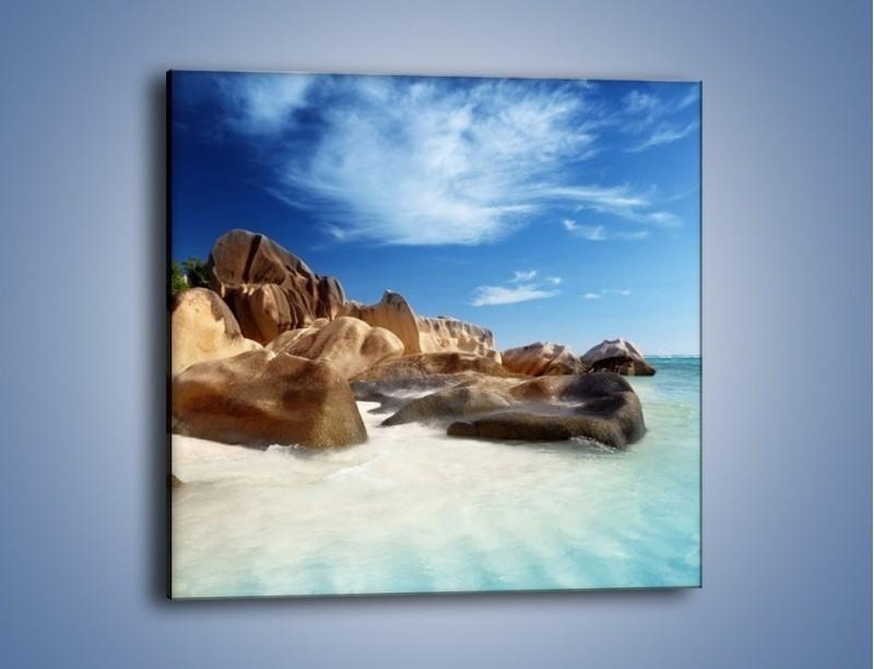 Obraz na płótnie – Niewyobrażalny błękit oceanu – jednoczęściowy kwadratowy KN986