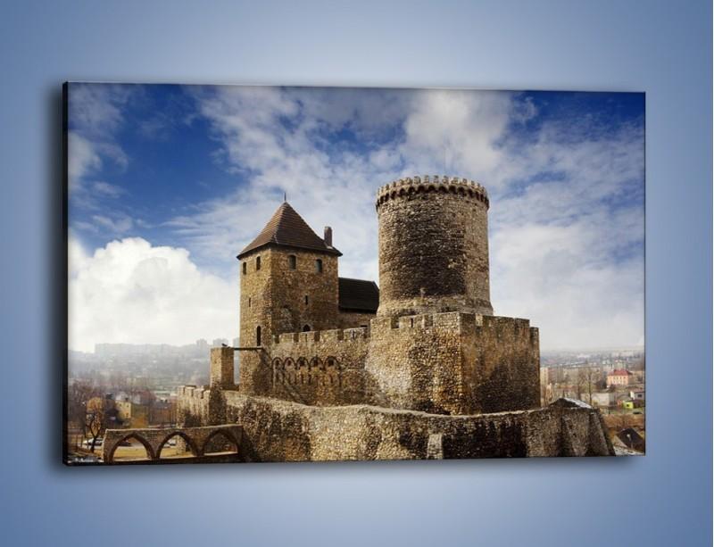 Obraz na płótnie – Średniowieczna fortyfikacja – jednoczęściowy prostokątny poziomy AM201