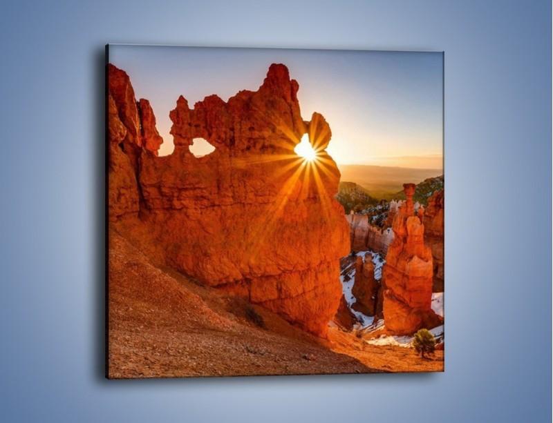 Obraz na płótnie – Przez słoneczne okulary – jednoczęściowy kwadratowy KN991