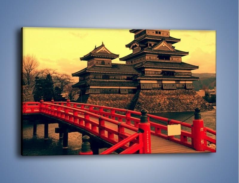 Obraz na płótnie – Japońska architektura – jednoczęściowy prostokątny poziomy AM235