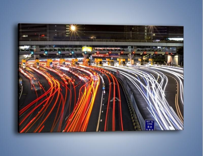 Obraz na płótnie – Autostradowa bramka w ruchu świateł – jednoczęściowy prostokątny poziomy AM236