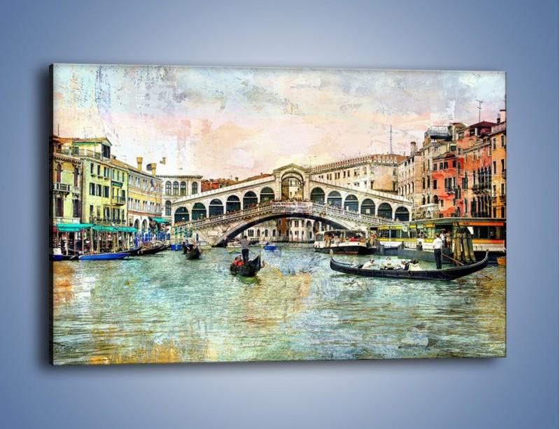Obraz na płótnie – Wenecja w stylu vintage – jednoczęściowy prostokątny poziomy AM239