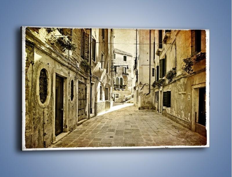 Obraz na płótnie – Stara uliczka w stylu vintage – jednoczęściowy prostokątny poziomy AM243