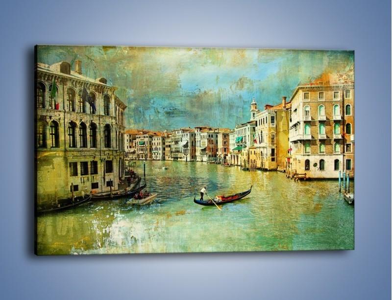 Obraz na płótnie – Weneckie lato w stylu vintage – jednoczęściowy prostokątny poziomy AM245