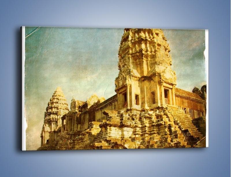 Obraz na płótnie – Starożytna architektura w stylu vintage – jednoczęściowy prostokątny poziomy AM246