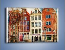 Obraz na płótnie – Amsterdam w stylu vintage – jednoczęściowy prostokątny poziomy AM258