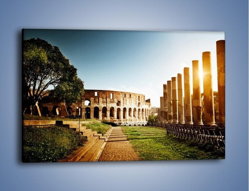 Obraz na płótnie – Koloseum w świetle słońca – jednoczęściowy prostokątny poziomy AM269