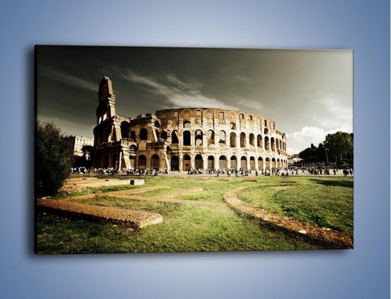 Obraz na płótnie – Koloseum przed burzą – jednoczęściowy prostokątny poziomy AM271